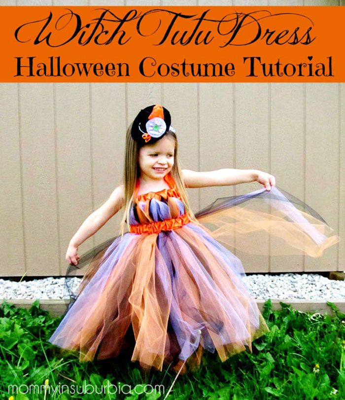 witch tutu dress halloween costume tutorial - Halloween Tutu Dress