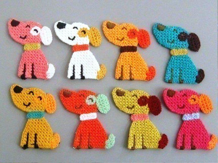 crochet dog applique                                                                                                                                                                                 More