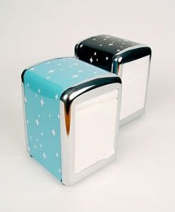 retro diner style napkin holders