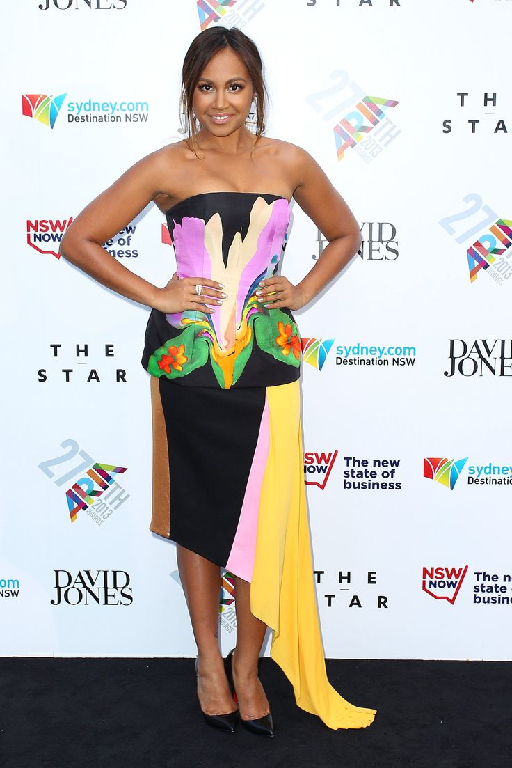 Jessica Mauboy in By Johnny at the 2013 ARIA Awards