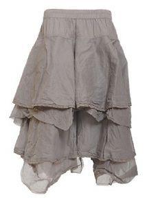 Skirt with frills Ewa i Walla  Steel grey, 100% cotton