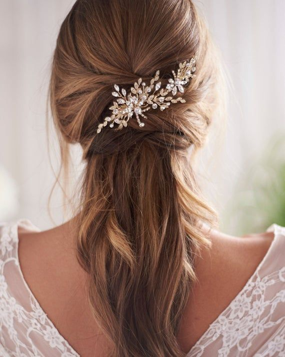 Crystal Bridal Hair Clip Crystal Wedding Hair Clip Bridal Etsy In 2020 Wedding Hair Clips Bridal Hair Clip Wedding Hair Accessories