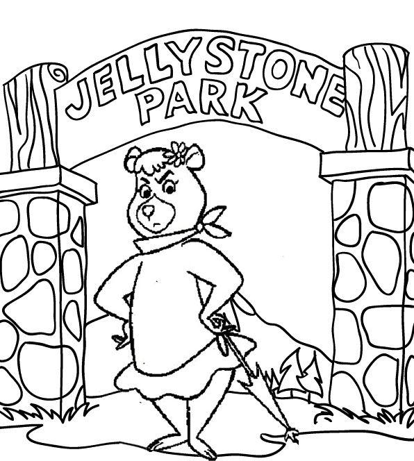 Cindy Coloring Page Of Yogi Bear Bear Coloring Pages Coloring Pages Yogi Bear