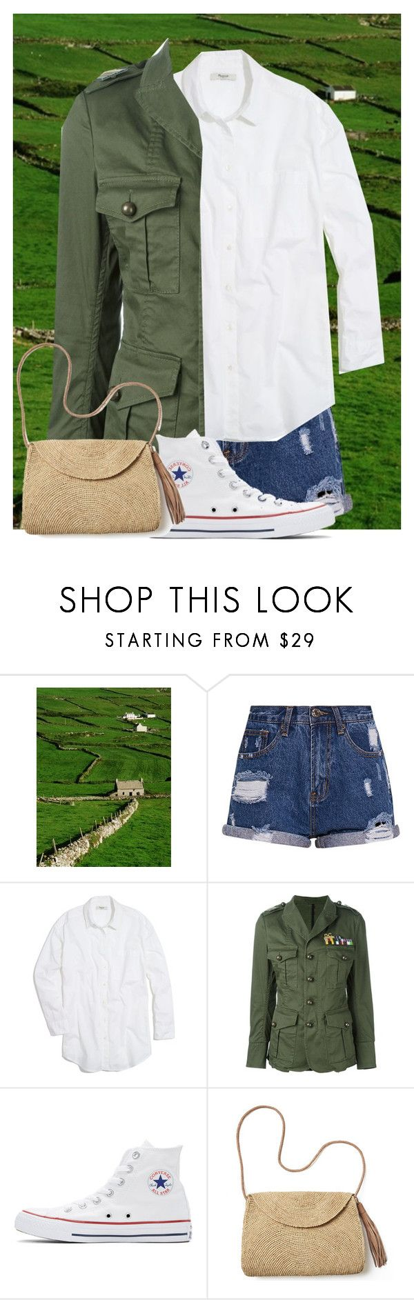 """""""Irish Luck"""" by eb-case ❤ liked on Polyvore featuring Madewell, Dsquared2, Converse and Mar y Sol"""