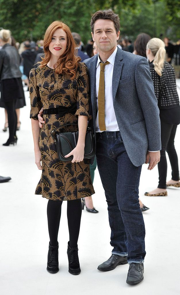 Rosalie Craig and Julian Ovenden arrives at the Burberry Spring Summer 2013