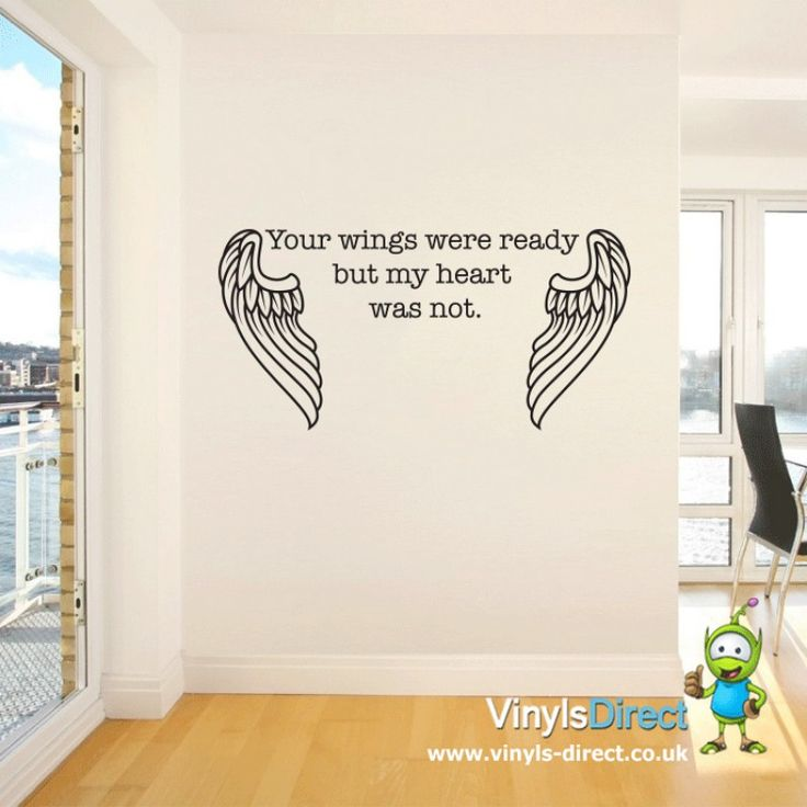 Your wings were ready but my heart was not wall sticker for Your wings were ready but my heart was not tattoo