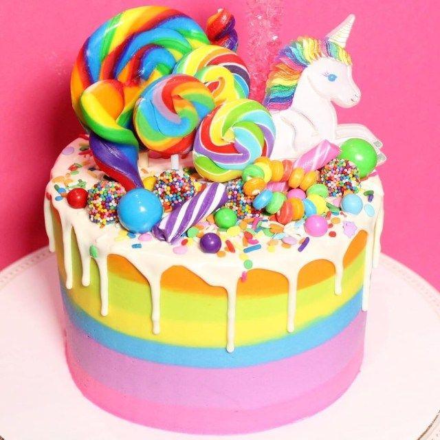 Admirable 27 Beautiful Image Of Birthday Cakes Kids Rainbow Birthday Cake Funny Birthday Cards Online Alyptdamsfinfo
