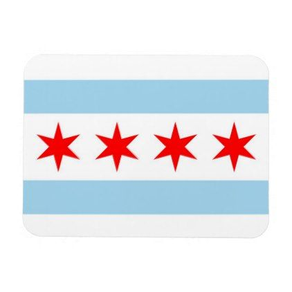 Patriotic flexible magnet with Chicago City flag - stylish gifts unique cool diy customize