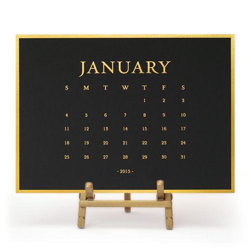 Classic Desk Calendar  |  Sugar Paper