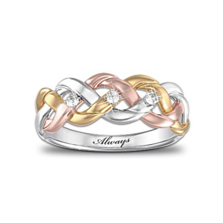 Strength of our faith diamond ring biblical verses for Three strand wedding ring