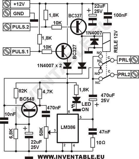 Circuito completo del intercomunicador