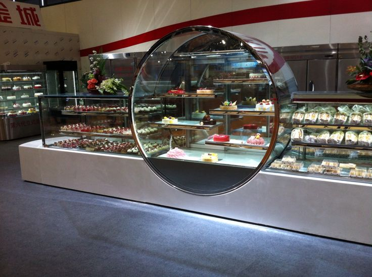 A Spectacular Refrigerated Cake Or Pastry Display Cabinet