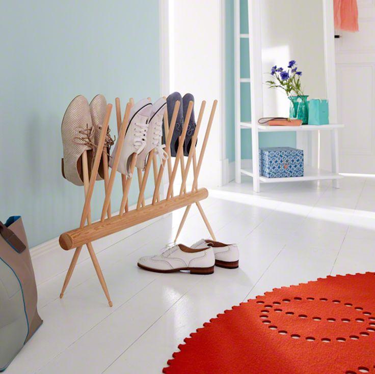 Stimmungsvoller Schuhständer Bauanleitung zum selber bauen