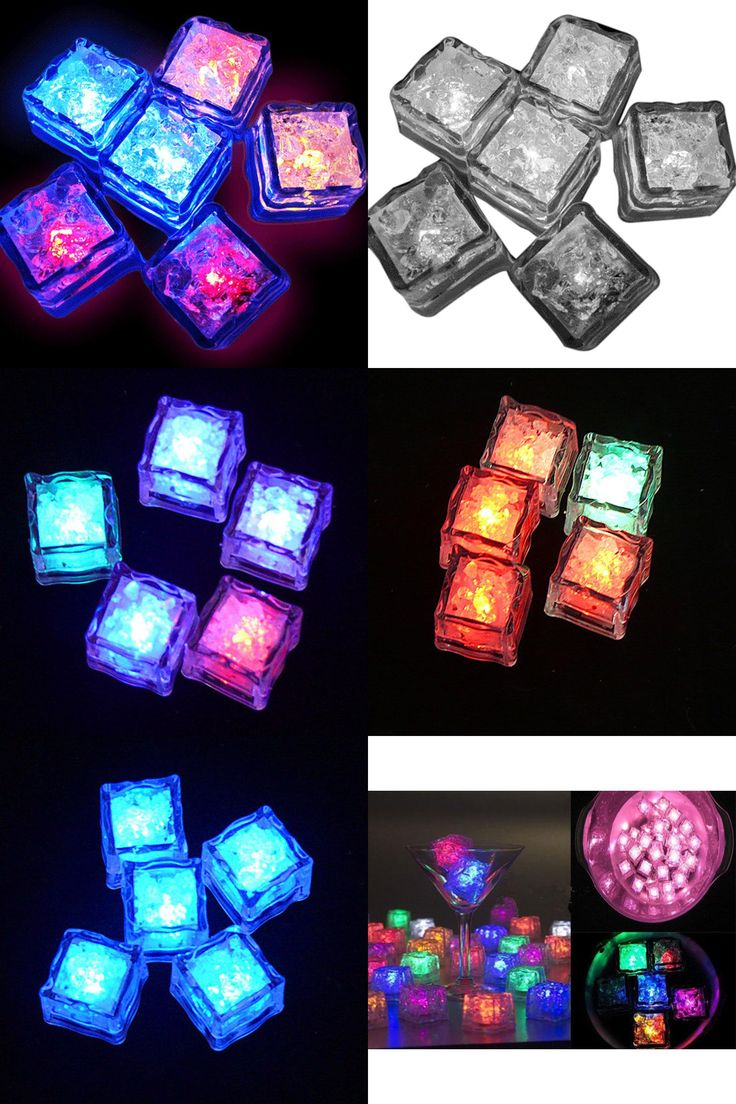 [Visit to Buy] Chritmas 12pcs Water Sensor Multi Colors Changing Led Ice Cubes Event Party LED Luminous Lces for Wedding Decoration BS #Advertisement