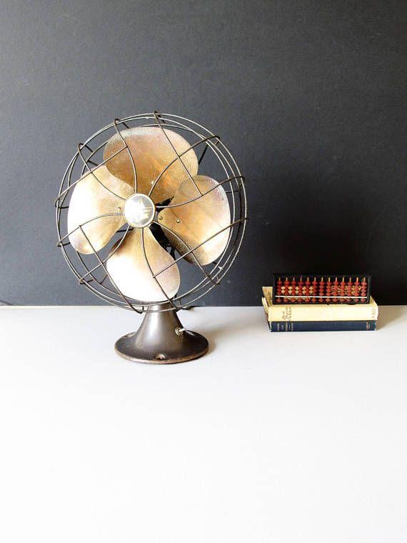 Vintage Emerson electric fan desktop fan office decor