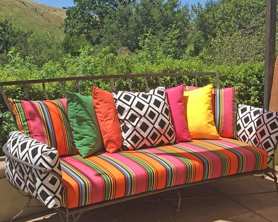 Sunbrella Custom Daybed Cushion Twin Bed Bench Swing Etsy Daybed Cushion Outdoor Daybed Cushion Bed Swing