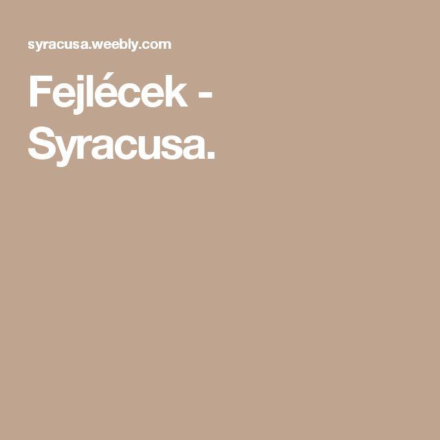 Fejlécek - Syracusa.