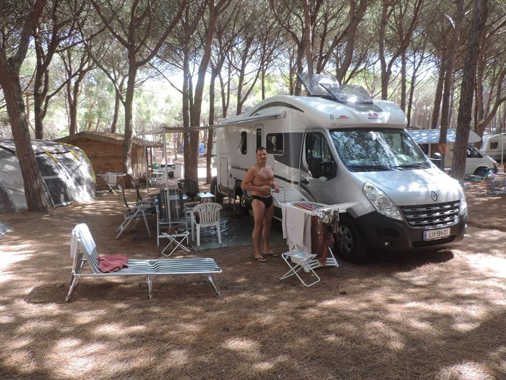 Badeaufenthalt am Campingplatz Bella Sardinia. Einige nette Tage mit dem Gebetsroither Personal welche die Gebetsroither Mietwohnwagen betreuen.