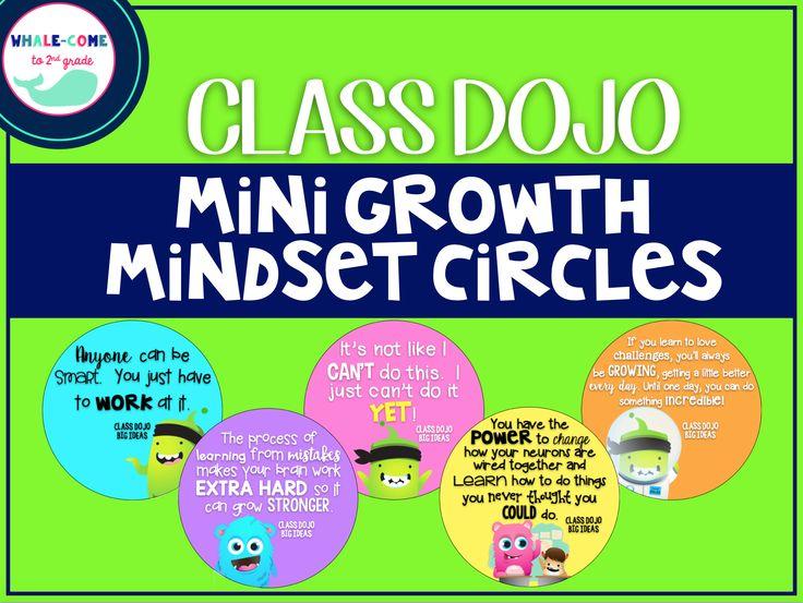 FREE Class Dojo Mini Growth Mindset Circles #growthmindset #classdojo #whalecometo2ndgrade                                                                                                                                                      More