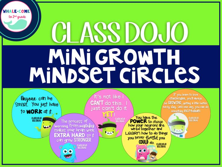 FREE Class Dojo Mini Growth Mindset Circles #growthmindset #classdojo #whalecometo2ndgrade