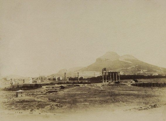 View of the area of Olympian and Ilissos ~ 1855