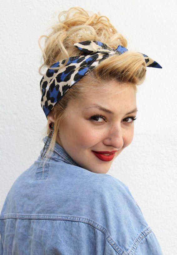 blue black vintage style 1950s