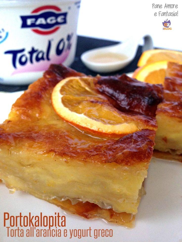 Portokalopita - Torta all'arancia e yogurt greco