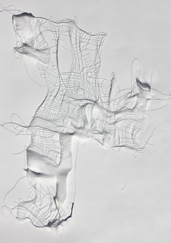 Liliya Sotirova | Lines in Space | Tapestry, monofilament