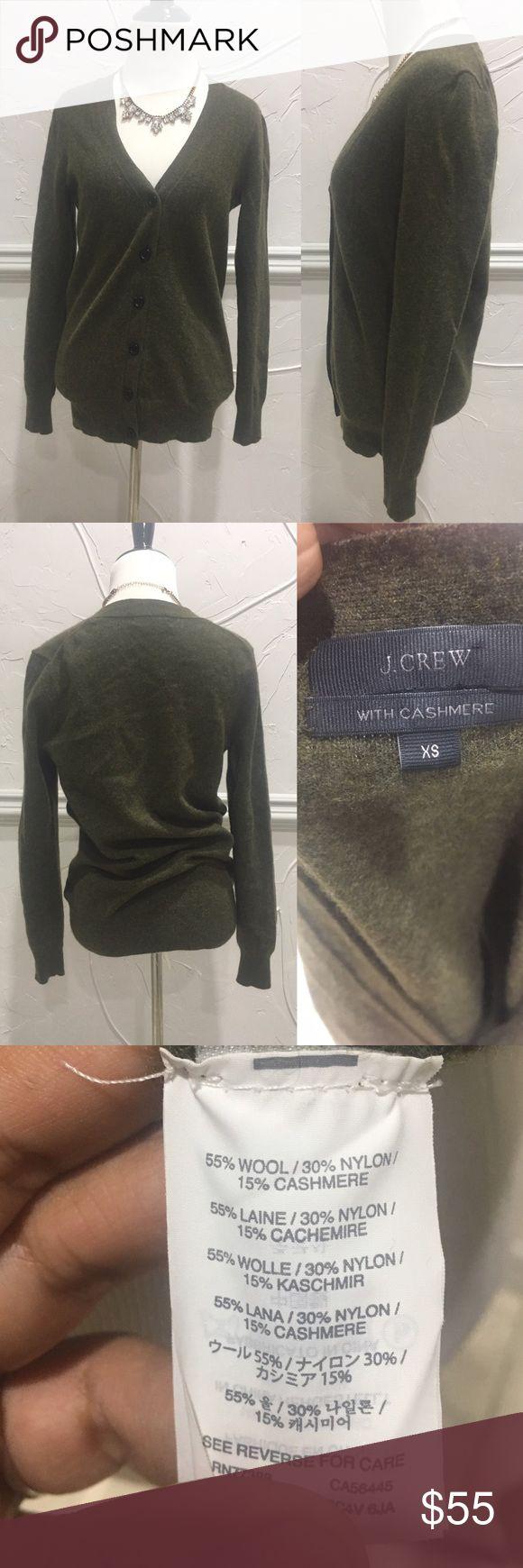 J. Crew Cashmere Wool V Neck Cardigan Size XS J. Crew Cashmere Wool V Neck Cardigan Size XS. Like new J. Crew Sweaters Cardigans