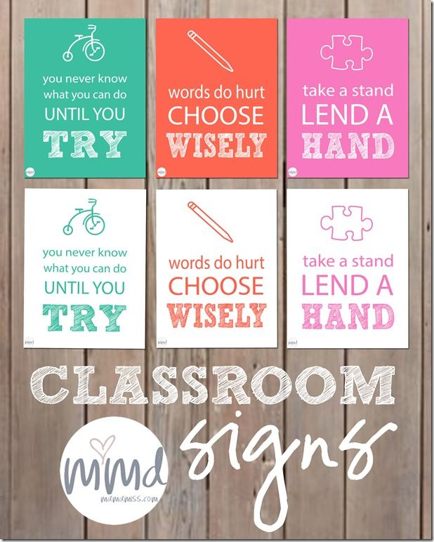 Love these free printable signs to promote kindness in your classroom!