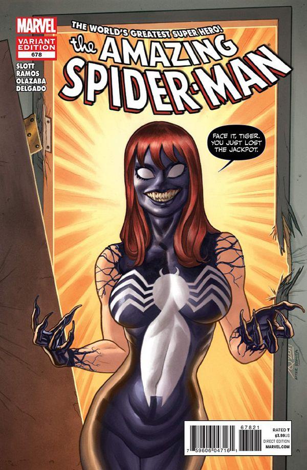 Spider Venom Marvel | Amazing_Spider-Man_678_Venom_variant