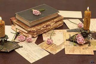 розы, Vintage, винтаж, книги, цветы, свечи, старые.