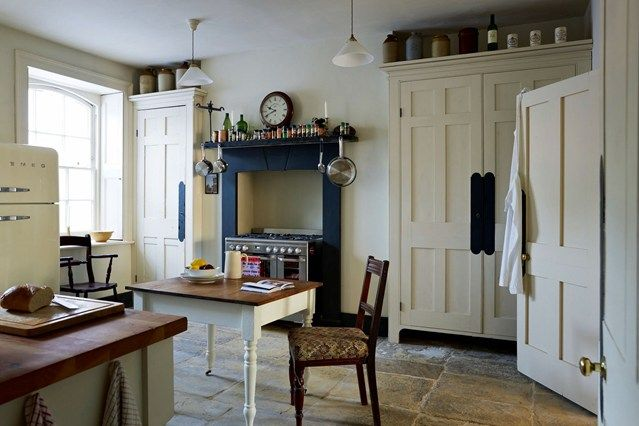 Blue & Cream Period Scheme in Spitalfields - Kitchen Design Ideas (houseandgarden.co.uk)