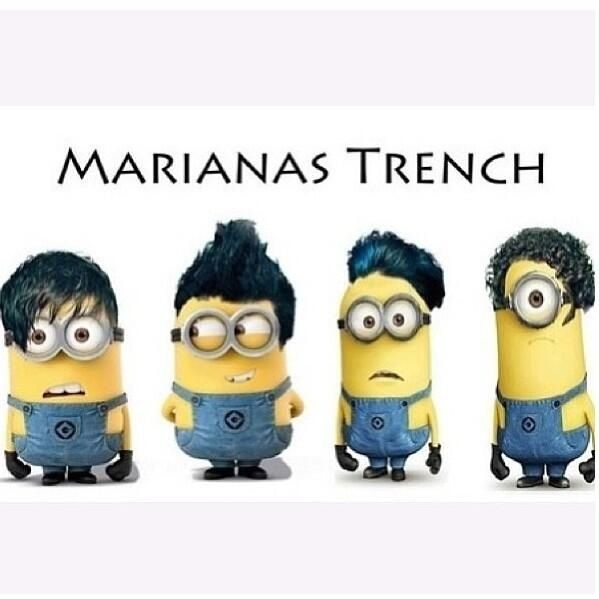 Hahaha Marianas Trench put this up on twitter hahaha