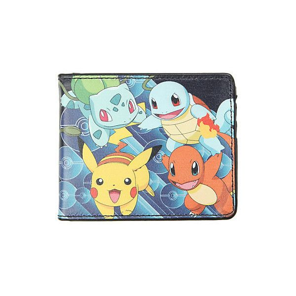 Pokemon Fun Starters Bi-Fold Wallet | Hot Topic ($13) ❤ liked on Polyvore featuring bags, wallets, pokemon, wallet, bifold wallet, credit card holder wallet, bi fold wallet, crystal clear bags and bill fold wallet