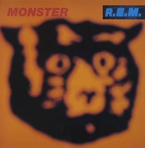 REM Monster - Display Flat & Window Laminate 1994 UK display DISPLAY FLAT & WINDOW STICKER