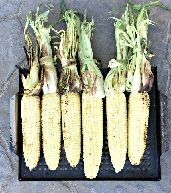 How to make Healthy Grilled Summer Corn Soup -- recipe by Peanut Butter and Julie
