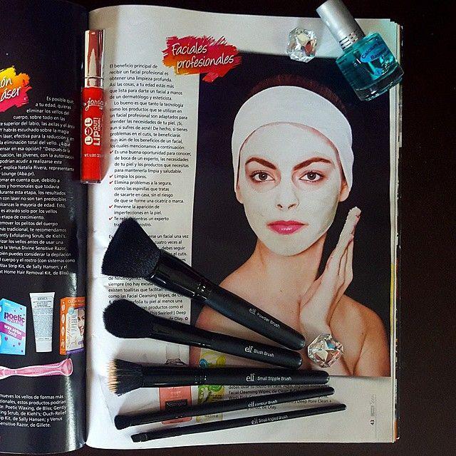Mini #Haul de brochas #elf / productos de #jordanacosmetics y mi #tb en la editorial de belleza en la revista #CarasTeen #Makeup by @ingridtruepeople foto por el talentoso @jaimefotopro. Agradecida por la oportunidad @ozzymartir pic: [1/2] #tinamatstyle