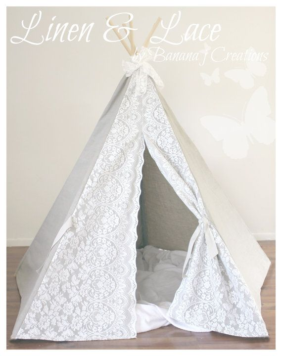 Gallery of linen tee pee with full lace doors with comment fabriquer un tipi tepee plan - Comment faire un tipi ...