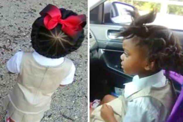 This Little Girls Before And After School Hairdo Is Going Viral