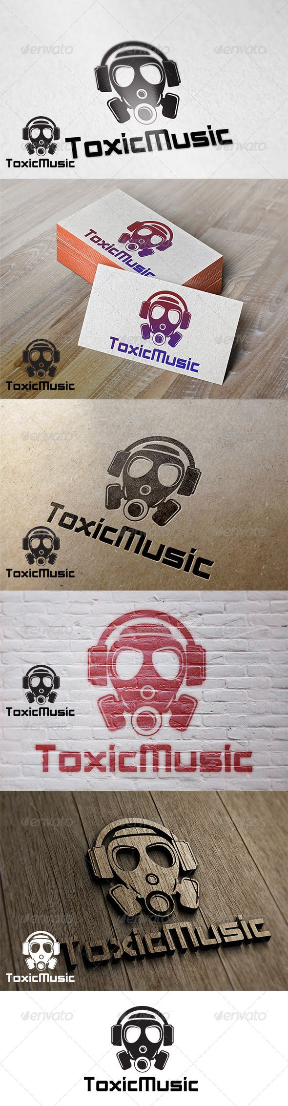 Toxic Music  - Logo Design Template Vector #logotype Download it here: http://graphicriver.net/item/toxic-music-logo/7321570?s_rank=1295?ref=nesto