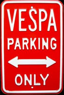Red Vespa Sign