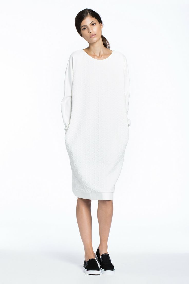 Great Northern Quilted Sweater Dress White $286.00 AUD