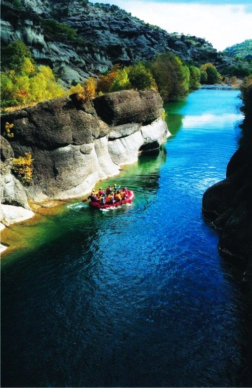 Rafting in Grevena, Macedonia