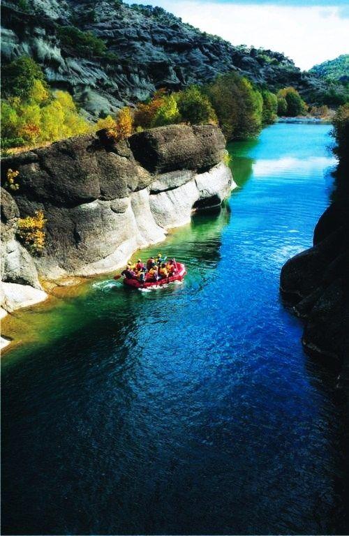 Rafting in Grevena, Macedonia