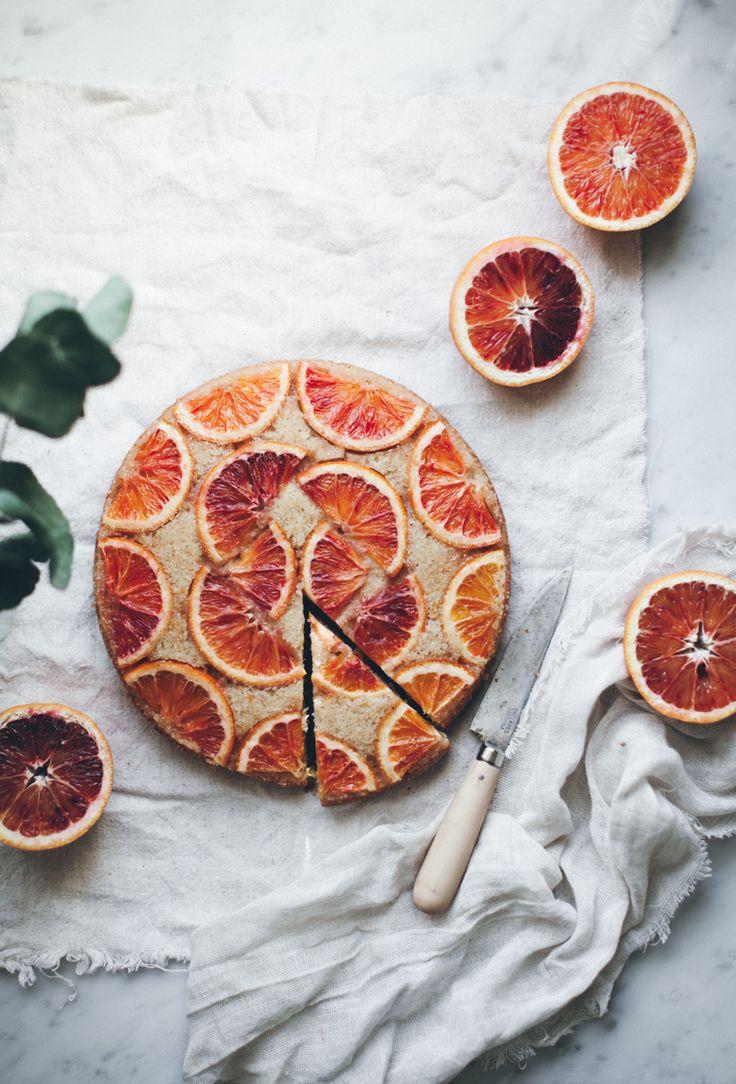 Tarte renversée aux oranges sanguines / Recette en anglais