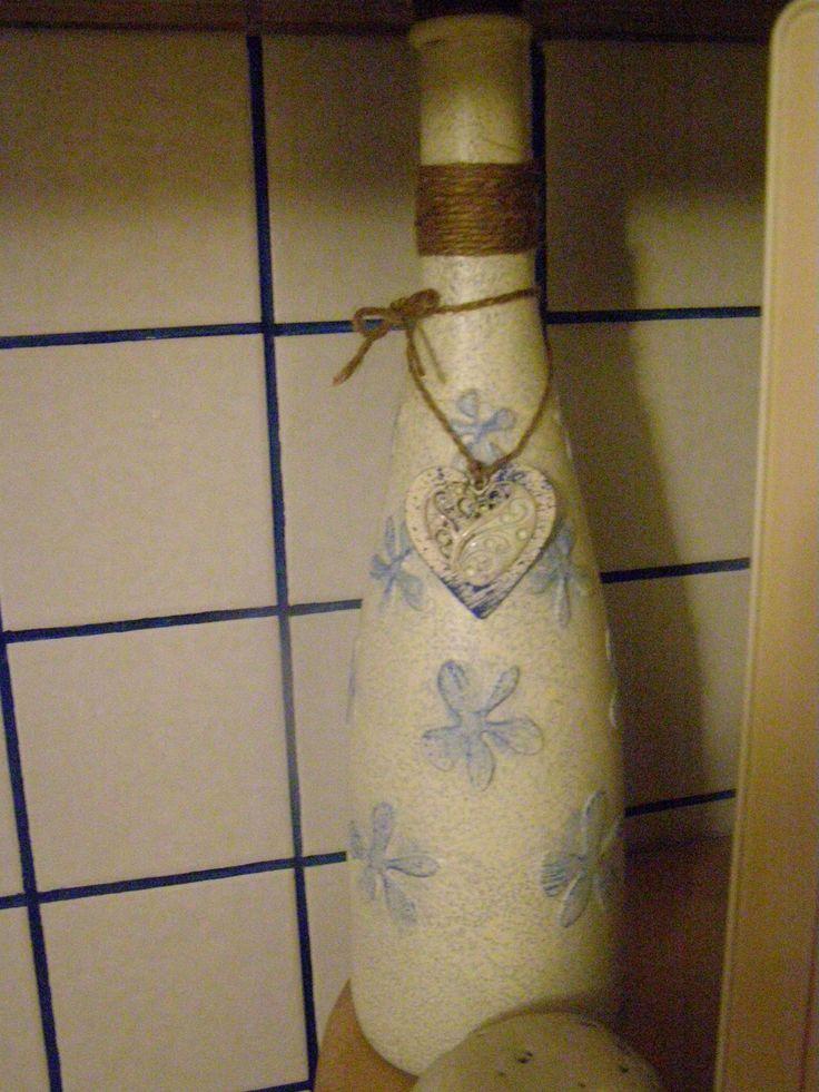 dekorace z lahve od vína