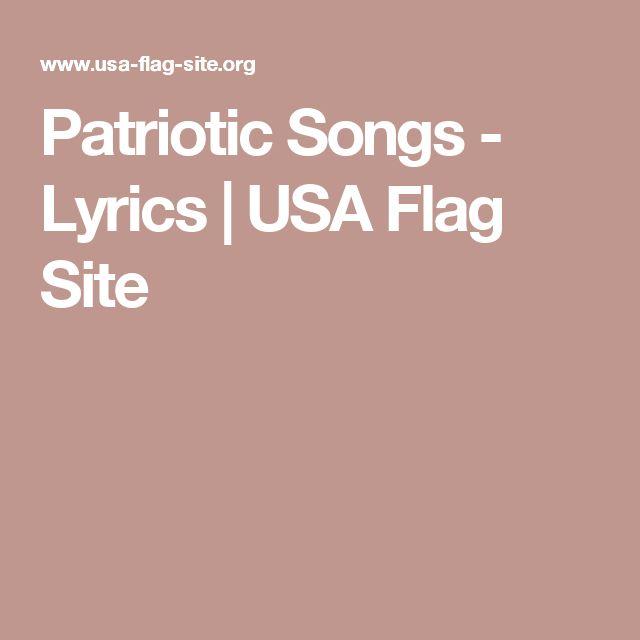 Patriotic Songs - Lyrics | USA Flag Site