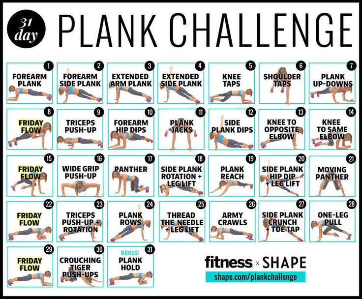 Slim down and tone it up with this 4-week plank challenge that will have you looking great for summer. This plank schedule will burn fat and build muscle. Start getting in shape and looking fit with this ultimate 30-day plank challenge.
