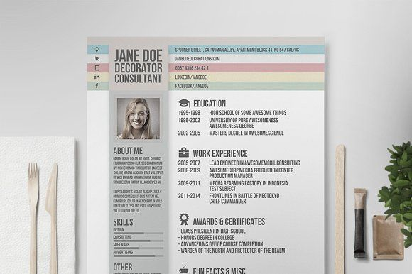 resume  cv template v by print forge on  creativemarket